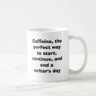 Caffeine, a good friend classic white coffee mug