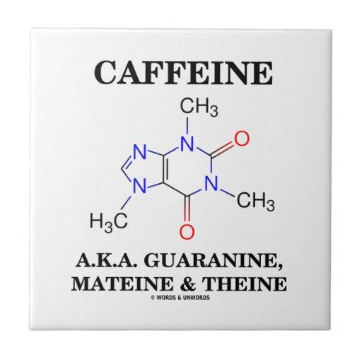 Caffeine A.K.A. Guaranine, Mateine and Theine Ceramic Tile