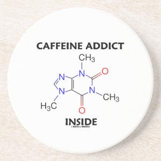 Caffeine Addict Inside Caffeine Molecule Coaster
