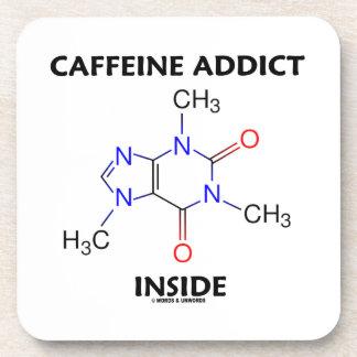 Caffeine Addict Inside Caffeine Molecule Beverage Coaster