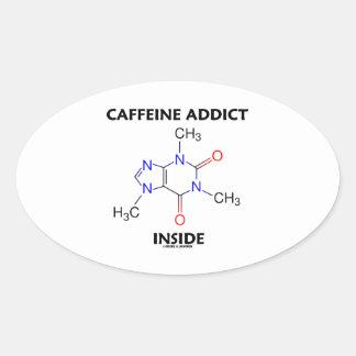 Caffeine Addict Inside (Caffeine Molecule) Stickers