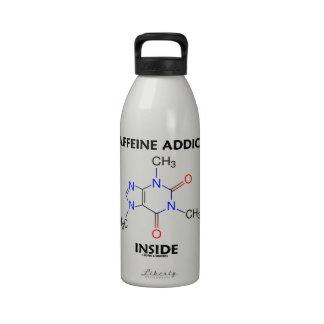 Caffeine Addict Inside (Caffeine Molecule) Reusable Water Bottle