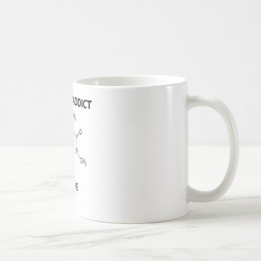 Caffeine Addict Inside (Chemical Molecule) Mugs