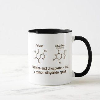 Caffeine and chocolate mug