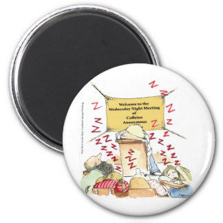 Caffeine Anonymous Funny Cards Tees Mugs & Gifts 2 Inch Round Magnet