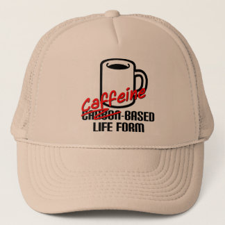 Caffeine Based Life Form Funny Coffee Ball Cap Hat