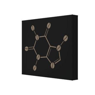 caffeine beans molecule canvas print