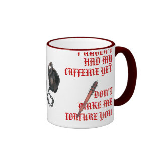 Caffeine Can Be Torture Ringer Mug