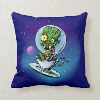 Caffeine Case From Outer Space Throw Pillow