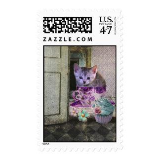 Caffeine Cat stamps