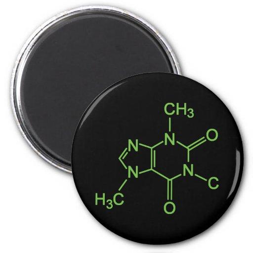 Caffeine Coffee Molecule 2 Inch Round Magnet
