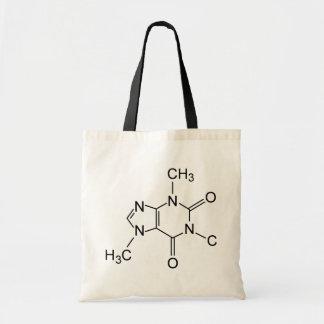 Caffeine Coffee Molecule Canvas Bag