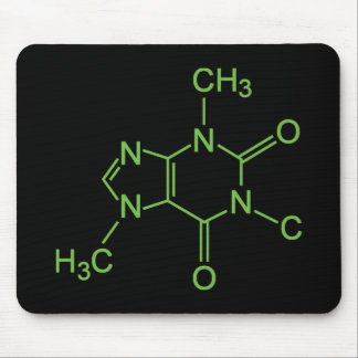 Caffeine Coffee Molecule Chemical Diagram Mouse Pad