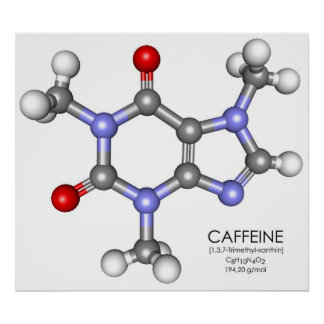 Caffeine - Coffee Poster