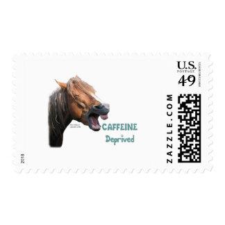 Caffeine Deprived  Funny Horse Postage