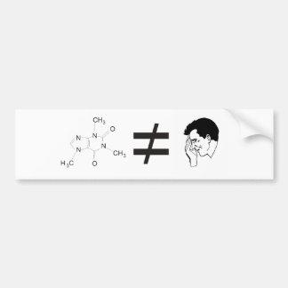 caffeine equals no headache car bumper sticker
