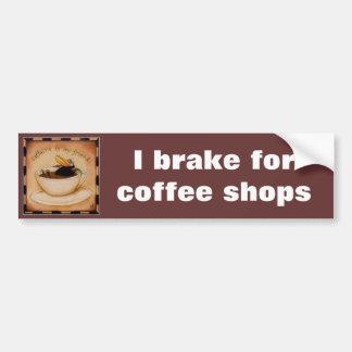Caffeine fiend bumper sticker car bumper sticker