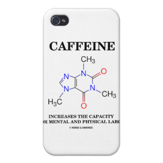 Caffeine Increases Capacity Mental Physical Labor iPhone 4/4S Covers