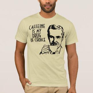 Caffeine is my drug of choice Retro T-Shirt