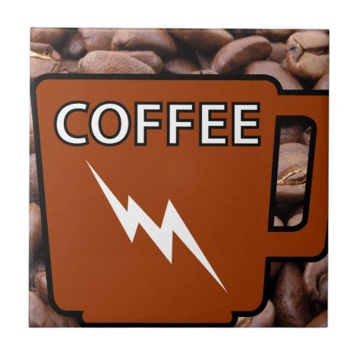 Caffeine Jolt Ceramic Tile
