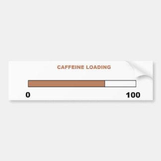 """""""Caffeine Loading"""" Bumper Sticker Car Bumper Sticker"""