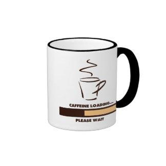 CAFFEINE LOADING - PLEASE WAIT RINGER COFFEE MUG