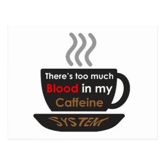 Caffeine Lover Post Card