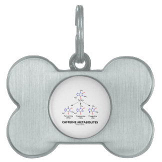 Caffeine Metabolites (Caffeine Molecule Chemistry) Pet Name Tag