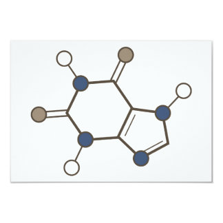 caffeine molecular structure card