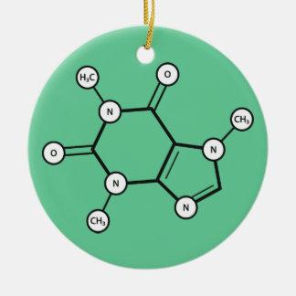 caffeine molecular structure ceramic ornament