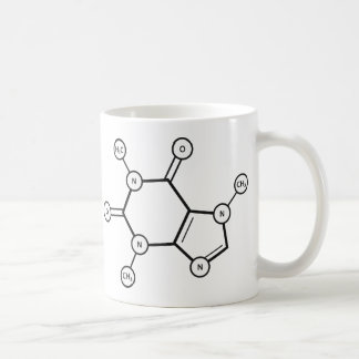 caffeine molecular structure coffee mug