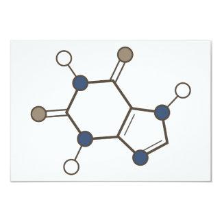 caffeine molecular structure 3.5x5 paper invitation card
