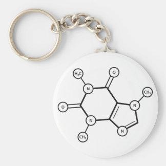 caffeine molecular structure keychain