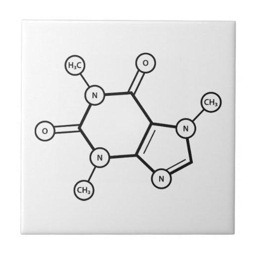 caffeine molecular structure tile