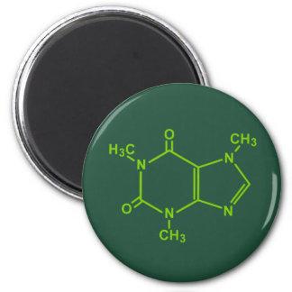 Caffeine Molecule 2 Inch Round Magnet