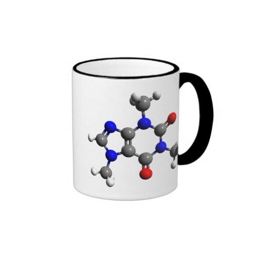 Caffeine Molecule 3D structure Mugs