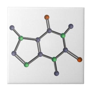 Caffeine molecule ceramic tile