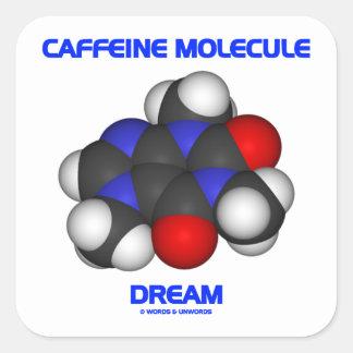 Caffeine Molecule Dream (Caffeine Molecule 3D) Sticker