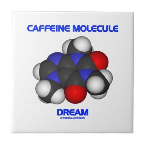 Caffeine Molecule Dream (Caffeine Molecule 3D) Tile