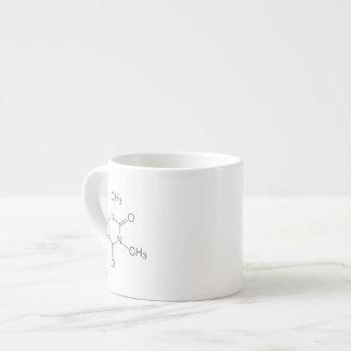 Caffeine Molecule for Coffee Lovers 6 Oz Ceramic Espresso Cup