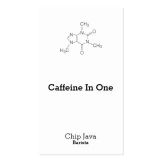 Caffeine Molecule for Coffee Lovers Business Card Templates