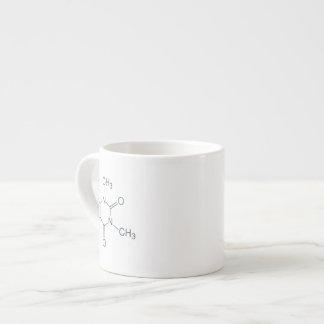 Caffeine Molecule for Coffee Lovers Espresso Cup