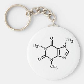 Caffeine Molecule keychain
