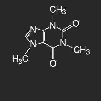 Caffeine Molecule Mens T-Shirt shirt