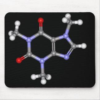 caffeine-molecule mouse pad