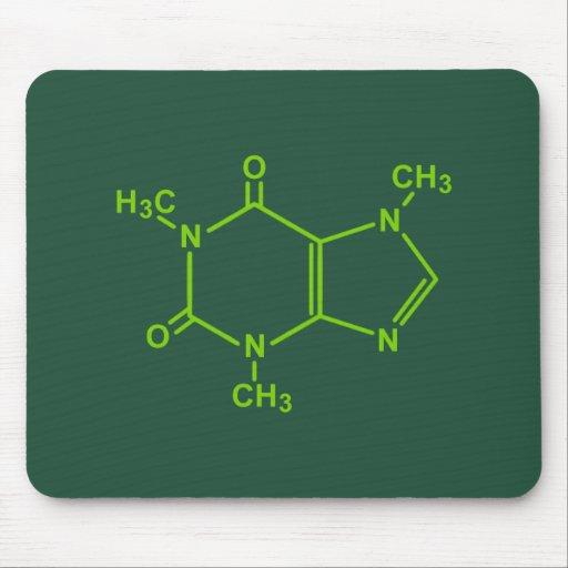 Caffeine Molecule Mousepads
