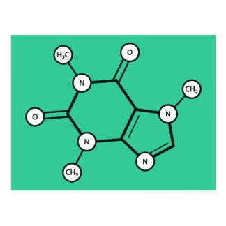 caffeine molecule postcard