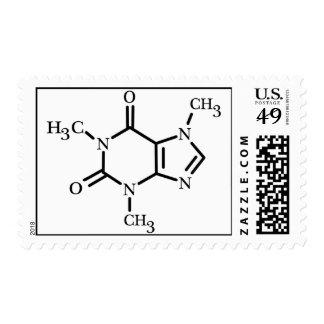 Caffeine Molecule stamp