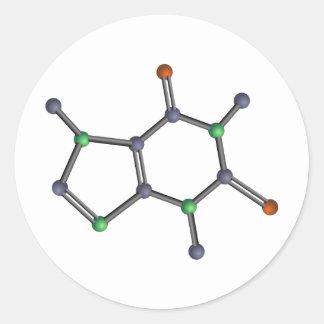 Caffeine molecule stickers