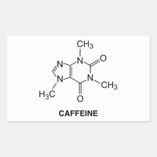 Caffeine Molecule Rectangular Sticker